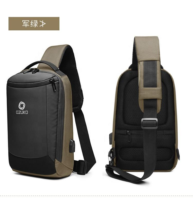 Custom Logo Single Shoulder Bag Pack Waterproof Cross Body Small Sling Travel Backpack Sports Chest For Men