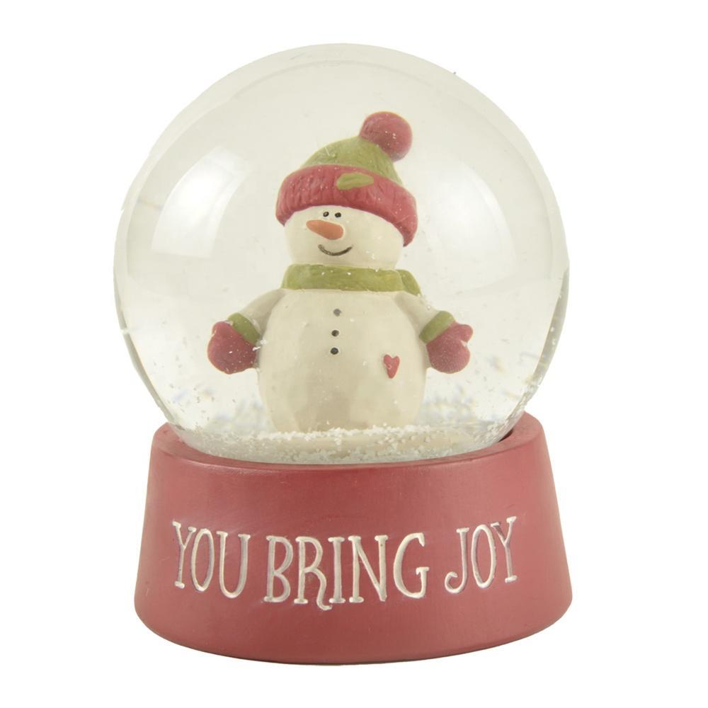 New design Wholesale Custom Personalized Cute Polyresin Snowman Snow globe Christmas water globe decor