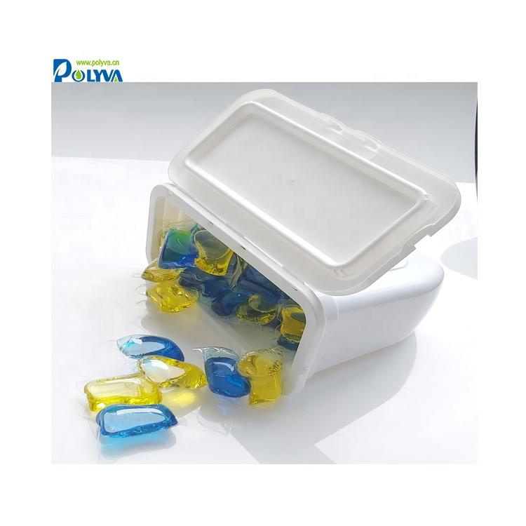 eco-friendly plastic box for packing laundry pods