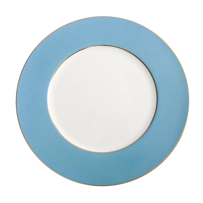 Wholesale Wedding Ceramic Charger Plate Bone China Charger Plates Dinner Dishes with Gold Rim