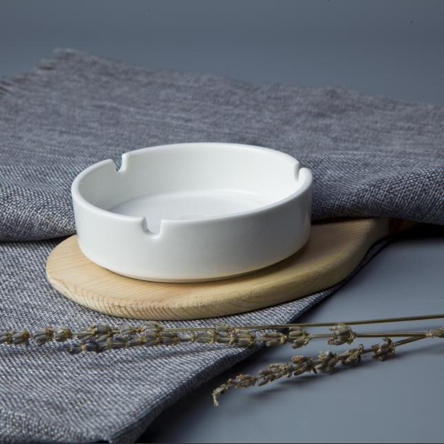 Cheap white porcelain round 4.25