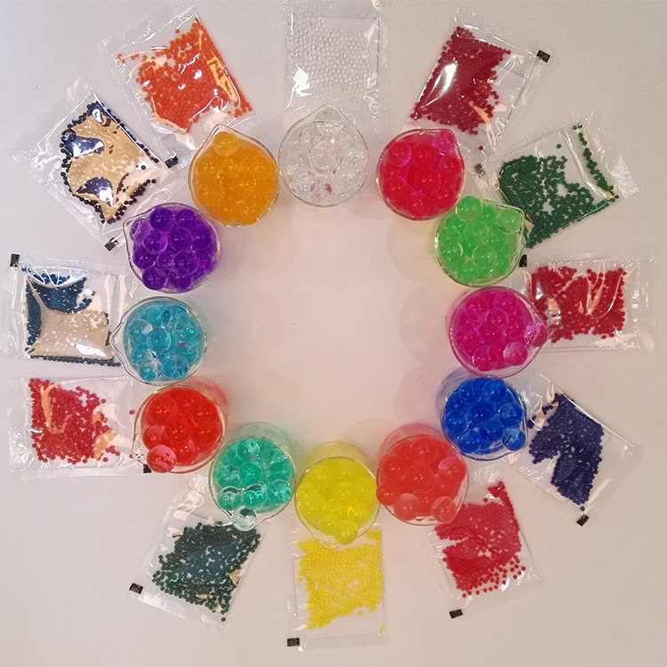 Rhos , REACH Certificates Promotional high Quality 15 Colors Available Bio Gel Magic Water Beads