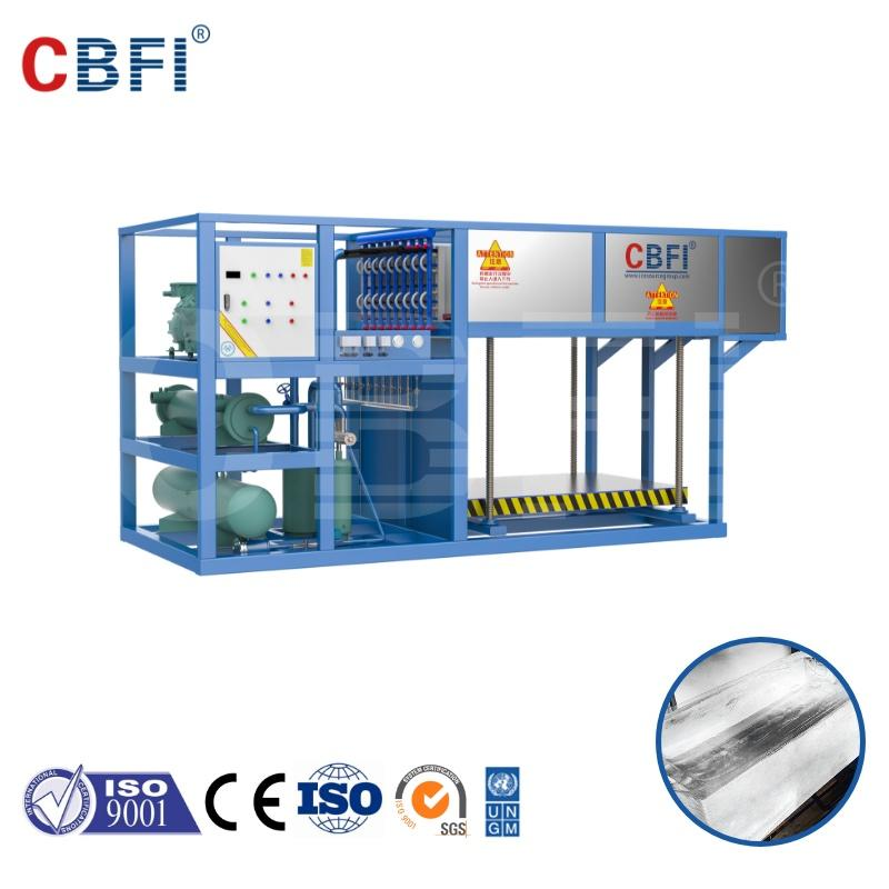 CBFI aluminium directly evaporated ice block machine 3 tons per day automatic