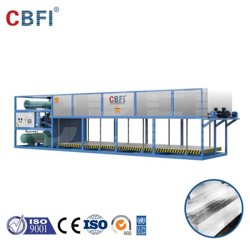 CBFI directly evaporated ice block machine cooling system making