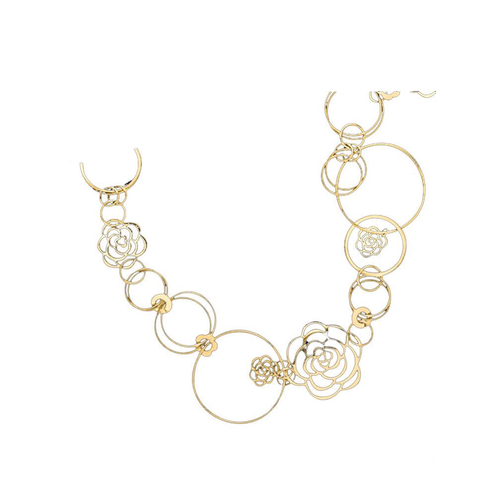 Custom design hollow flower 22ct gold jewellery