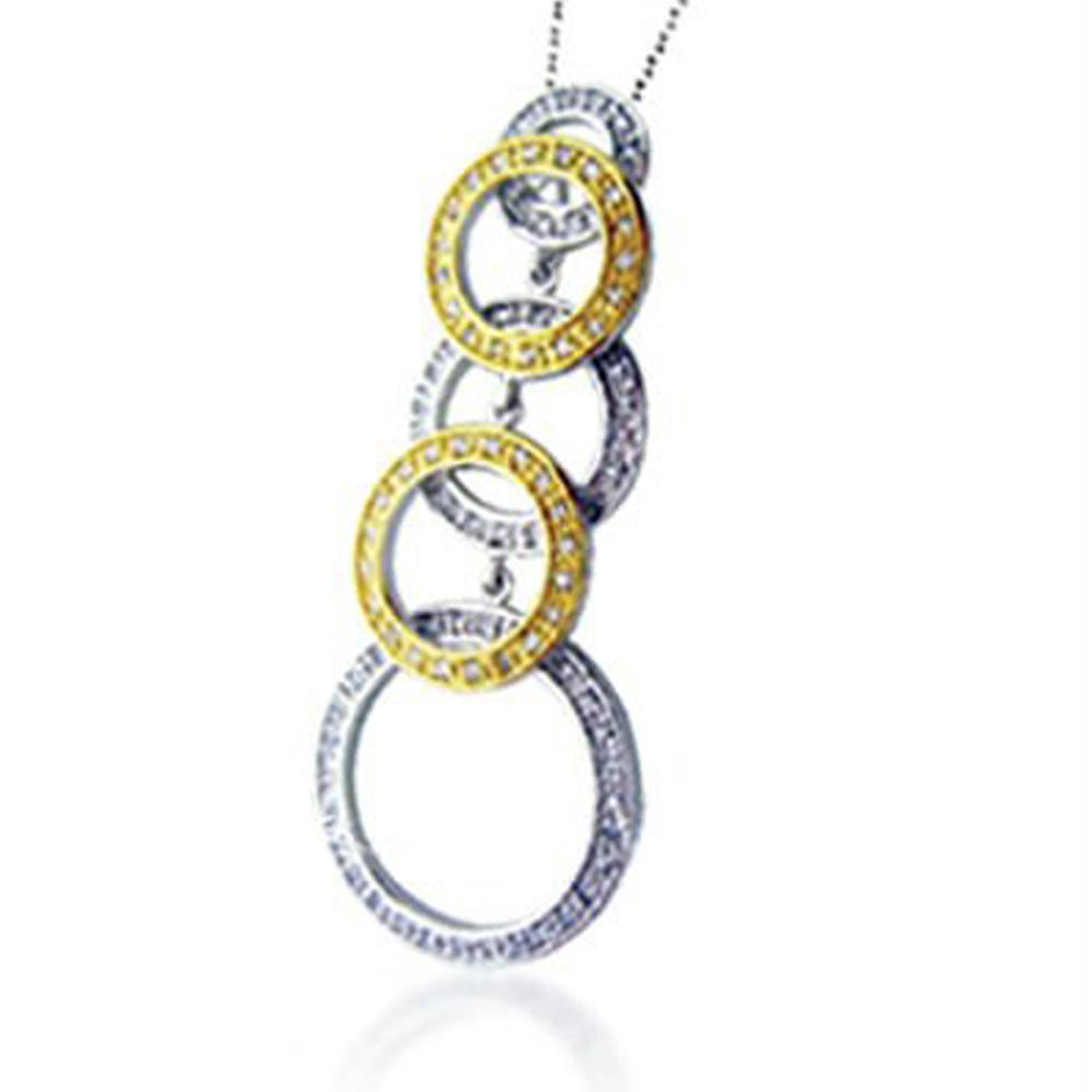 Chic 925 Sterling Silver Jewelry Women Chunky Bubblegum Necklace