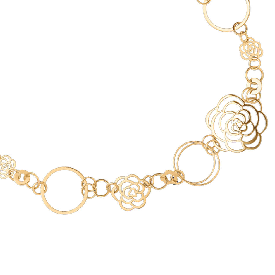 Flower design 18k gold rings earrings necklaces bracelets