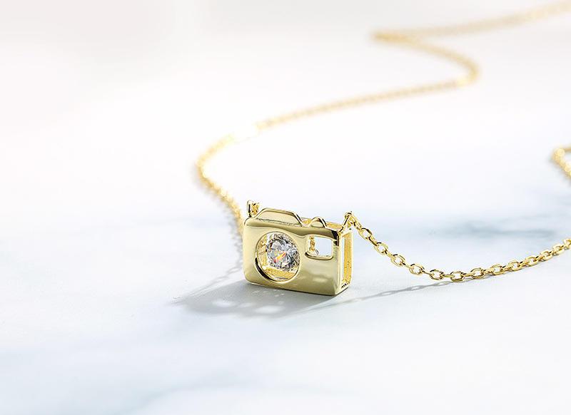 Exquisite Silver Custom Shape Camera Locket Pendant Necklace