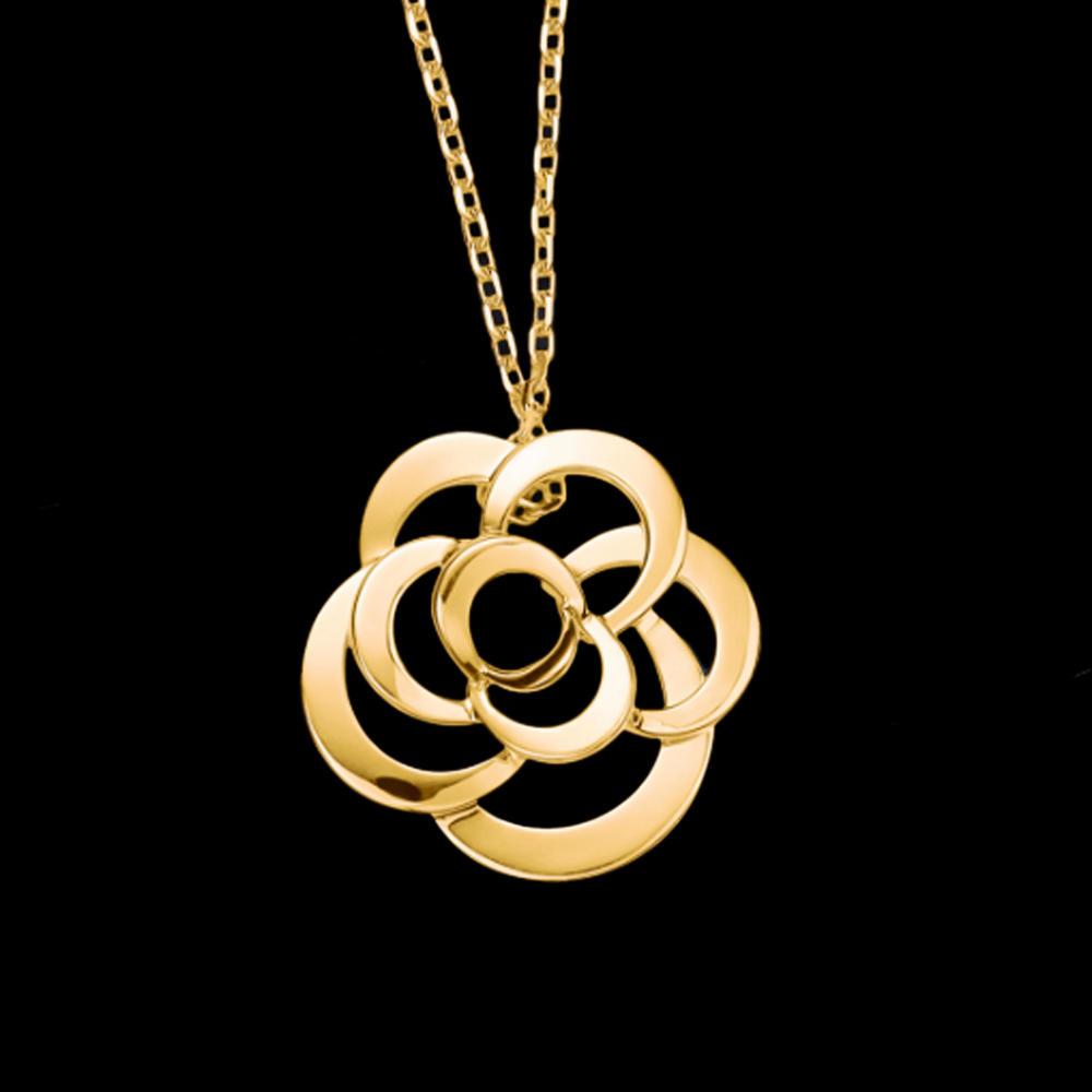 Hollow flower women 22k gold jewelry