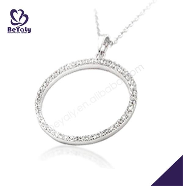 925 silver circle locket diamond pendant jewelry