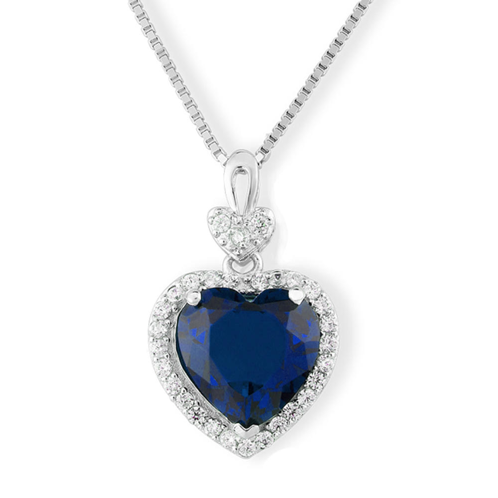 Fashion heart shape 925 silver pendant cz wedding jewelry