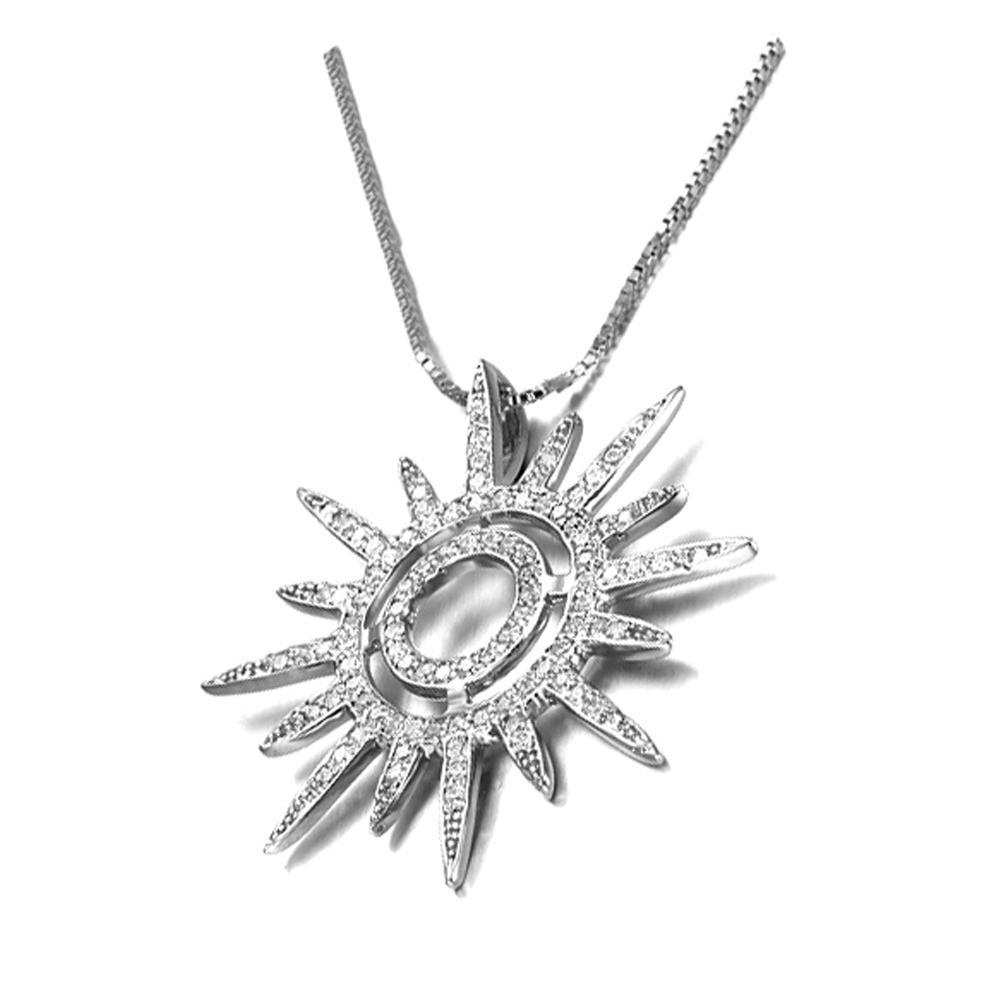 Clear zircon silver sunshine shape egyptian gold jewelry
