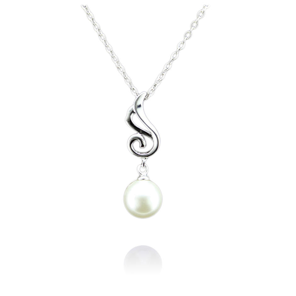 925 silver wing charm real freshwater pearl set necklace price