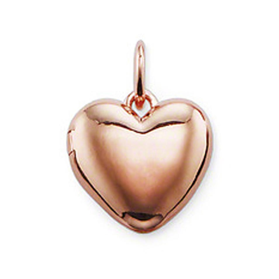 Rose Gold Plated Heart Locket Charm Silver Perfume Necklace