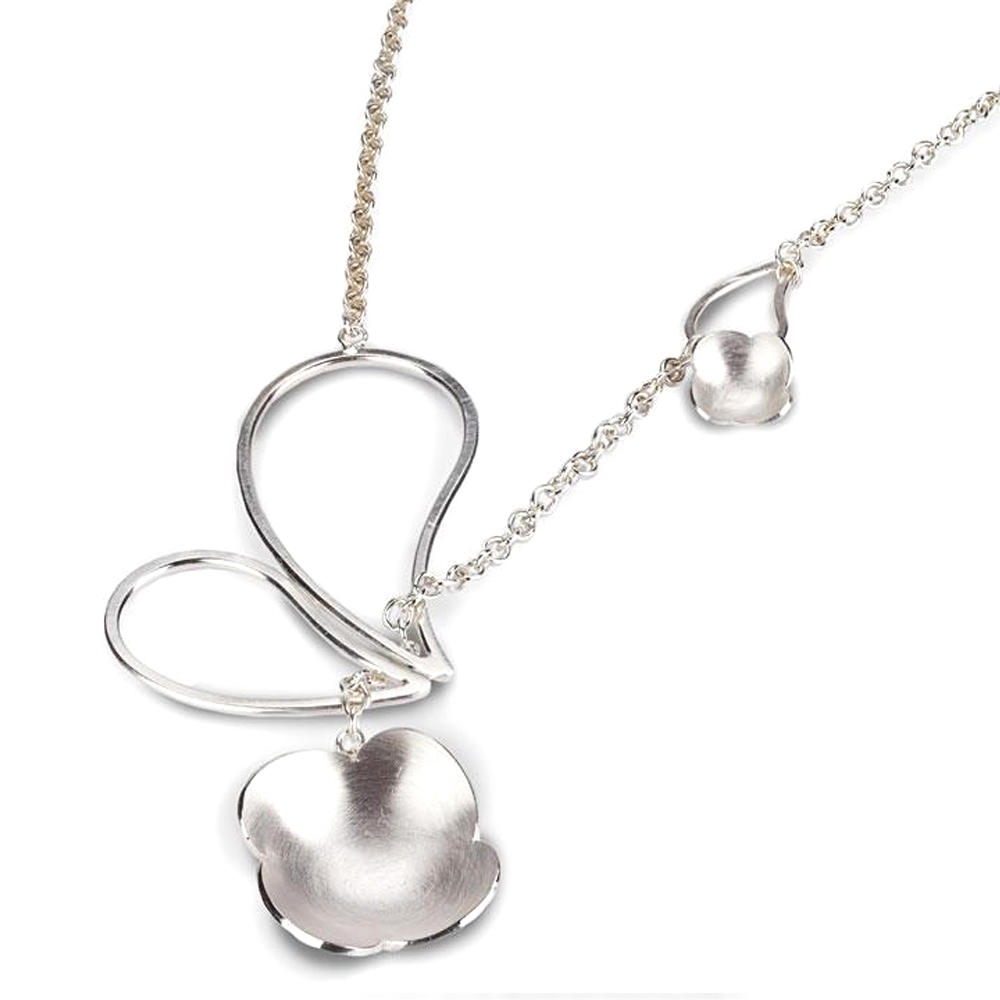 Silver butterfly clover accessories for women