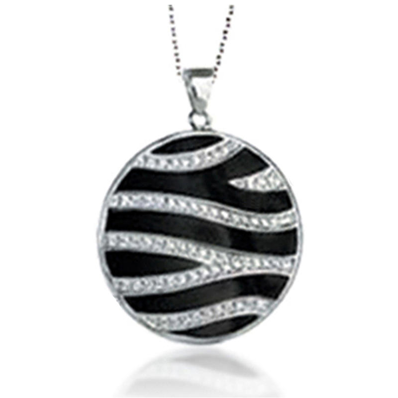 Shiny Black Stone Silver Bisuteria Fashion Jewelry Necklace Set