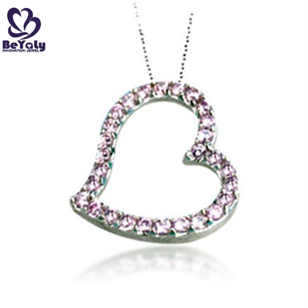 Excellent hollow heart 925 silver jewelry rhinestone