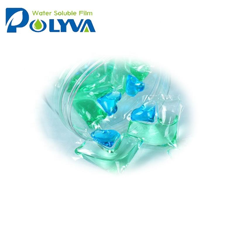 water soluble organic laundry detergent liquid pods