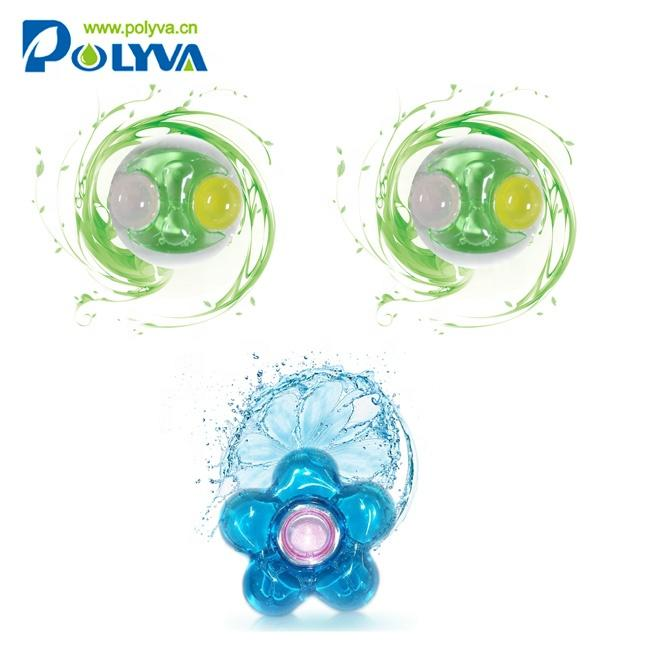 polyva Highly concentrat bulk liquid laundry detergent washing scented beads washing laundry detergent pods capsule laundry pod