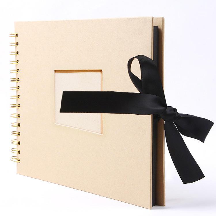 Kraft Paper DIY Blank Photo Album Hardcover DIY Blank Photo Album Scrapbook