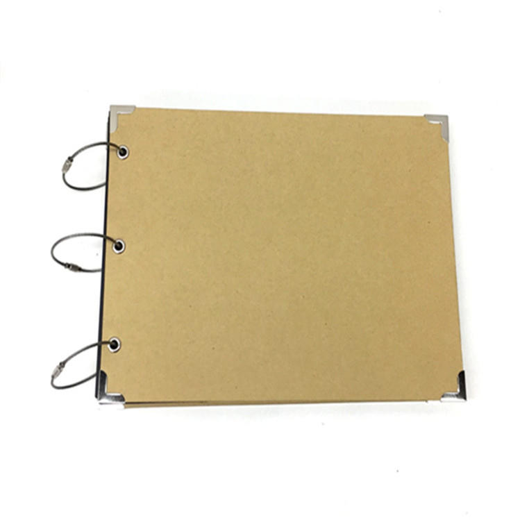 12x12 Thick Kraft Scrapbook Photo Album With 250 Grams Black Sticky Pages