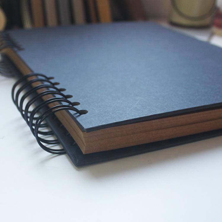 Black Plain Memorial Guest Books 250gsm Kraft Paper Scrapbook