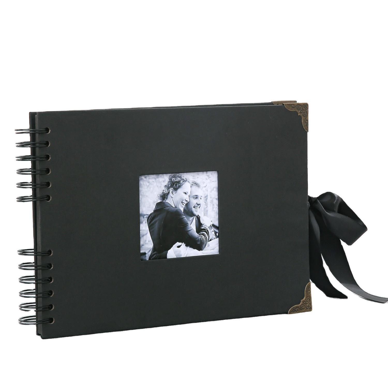 product-Cheap Price Kraft Loose Album Types Spiral Binding Photo Album To Design Your Own Scrapbook--1