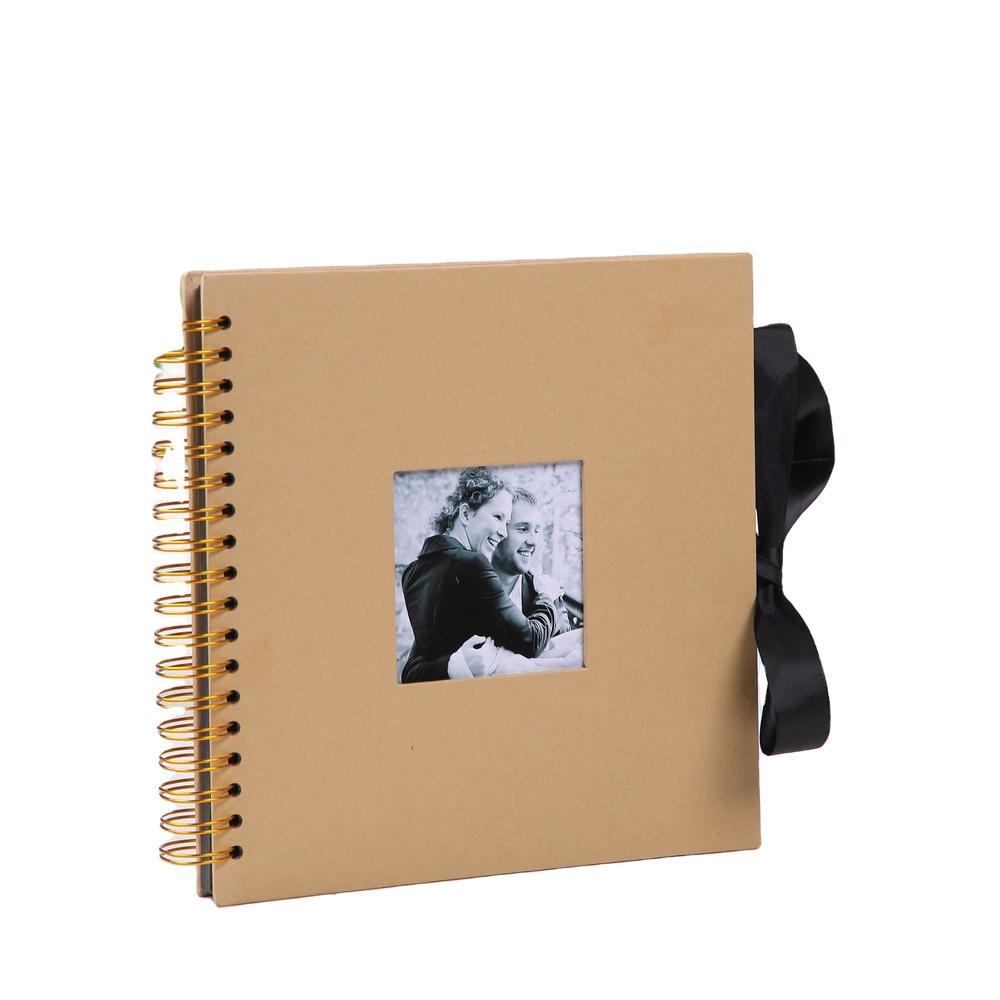 Custom Paperboard Kraft Paper Photo Albums Rainbow Spiral Binding Coil Photo Album