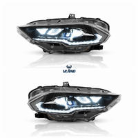 VLAND factory for 2018-UP Mustang Modified Head light with LED DRL Sequential signal LED beam lens and welcome light