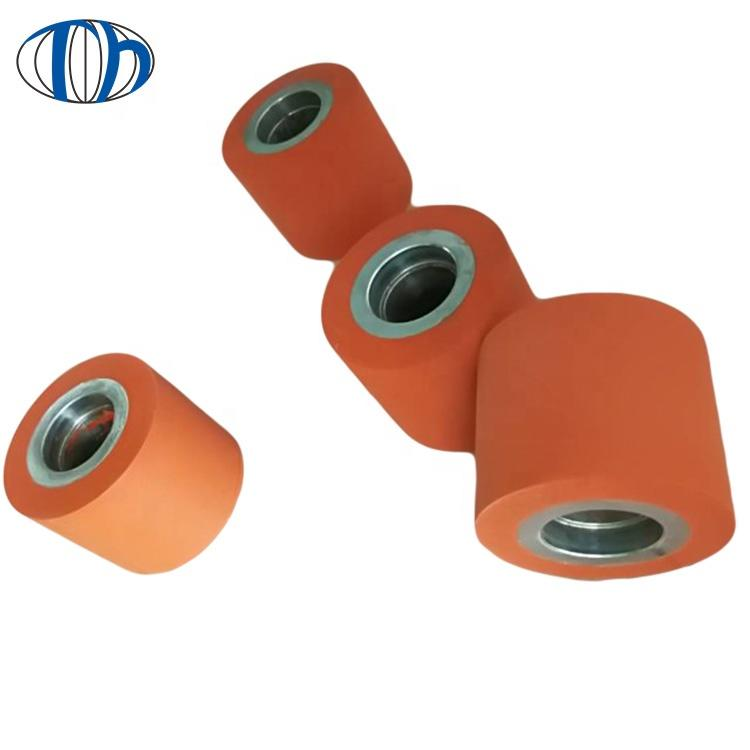 customized high-strength hand polyurethane industrial PU Rubber roller rubber