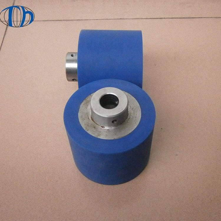 Factory manufacture precision industrial rubber roller shaft roller rubber shaft roller