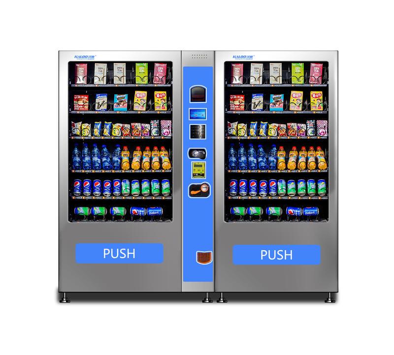 Big storage combine drink vending machine with slave cabinet