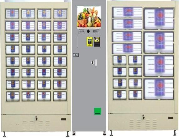 R290 environmental refrigerant cooling locker vending machine for fruit vegetable milk meat eggs dumpling cake