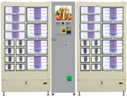 24 hour fresh fruit salad sushi meat flower vegetable egg locker vending machine