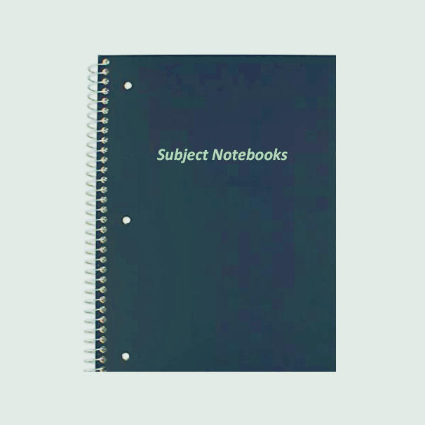 Cheap price 1 one subject spiral college ruled notebook for school