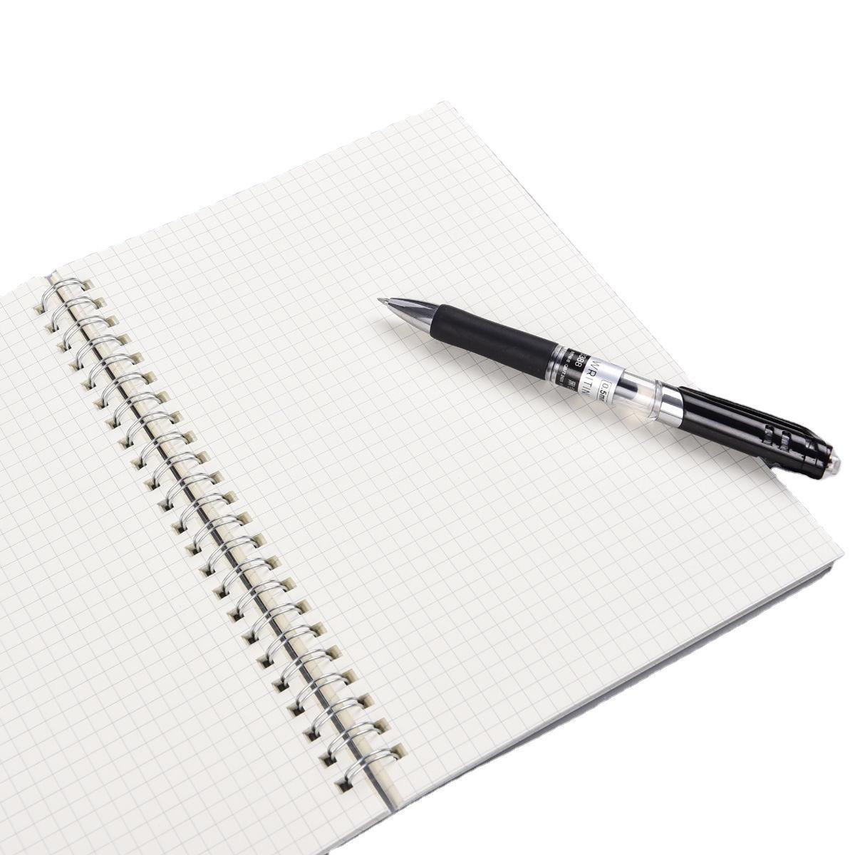 Custom Braided Elastic Band Plastic Book Cover Grid Notebook Spiral Binding