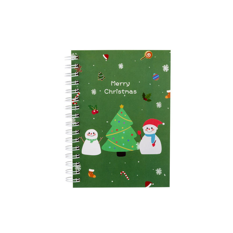 product-Custom A5 Spiral Coil Binding Notebook Planner Gift For Christmas-Dezheng-img-1