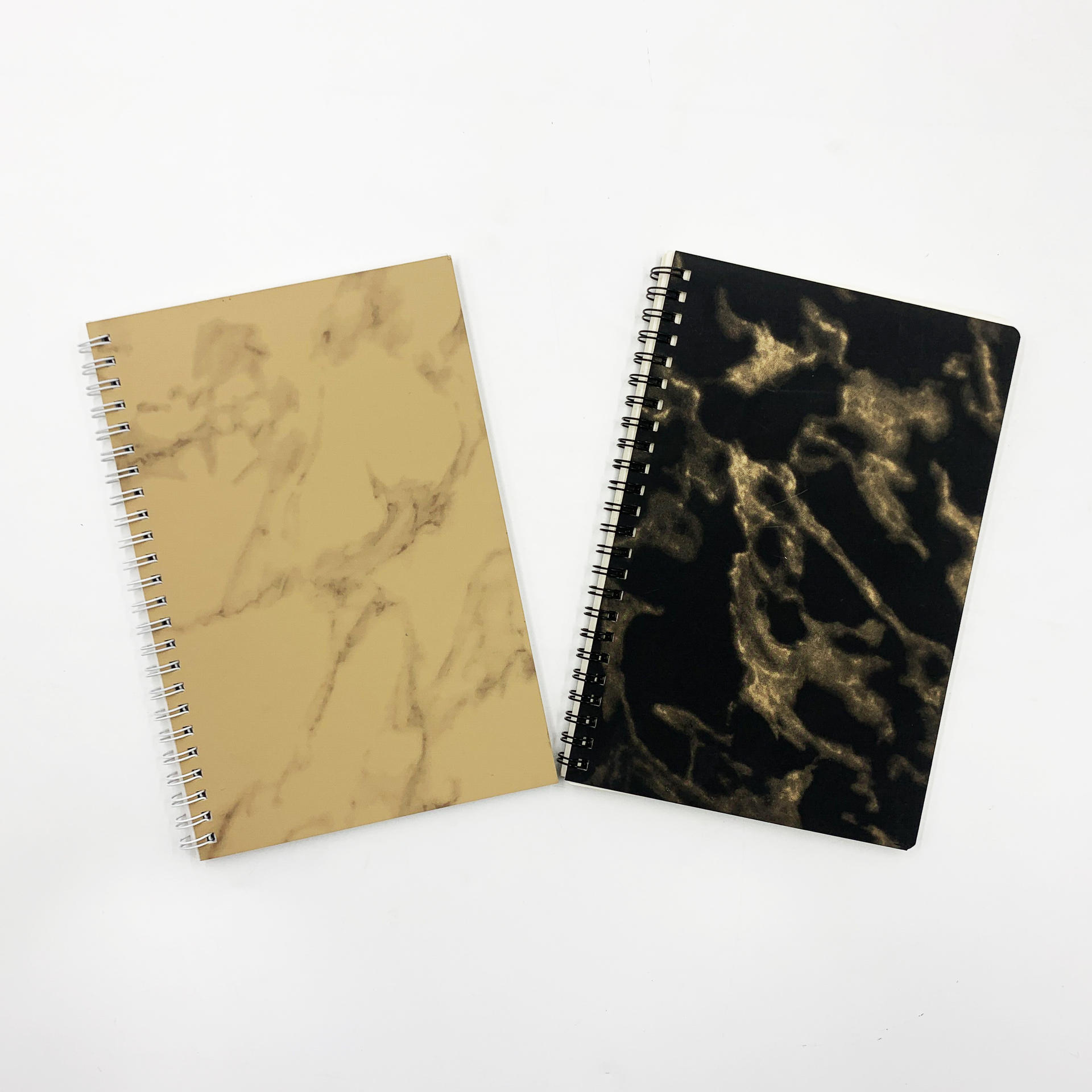 product-High quality cheap leather journal bullet spiral binding notebook customized refillable pu l-1