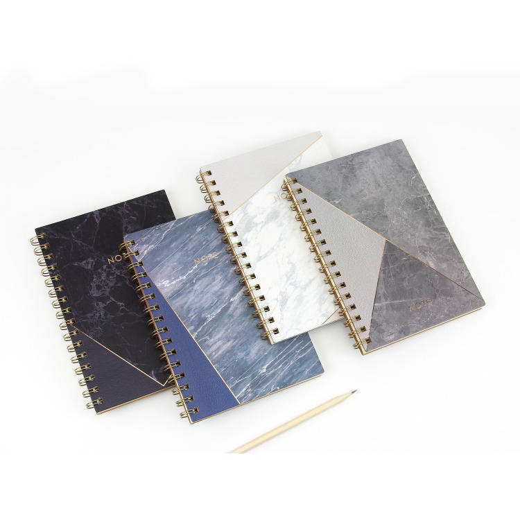 product-Dezheng-Personalized pu leather spiral bound journal notebook custom vintage leather covered-1