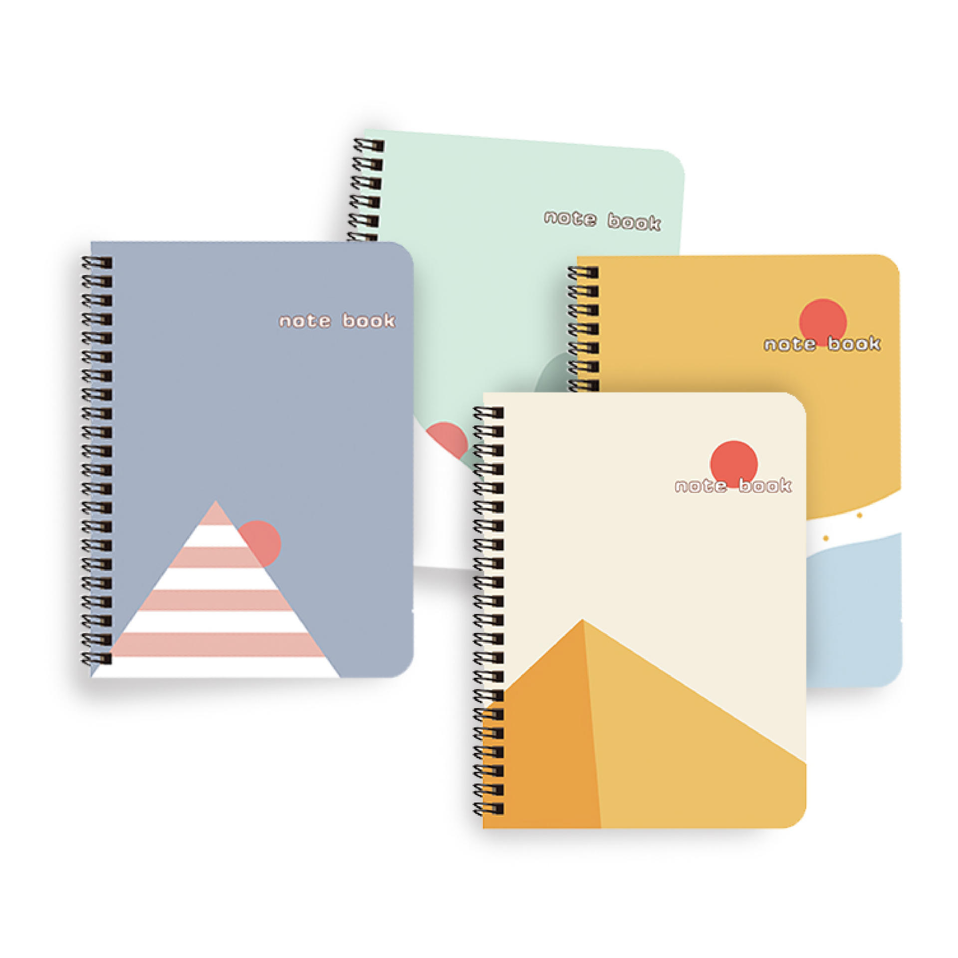 product-Dezheng-A4 A5 A6 Japanese-Style Minimalism Cover Wide Ruled Notebook With Black Spiral Bindi-1