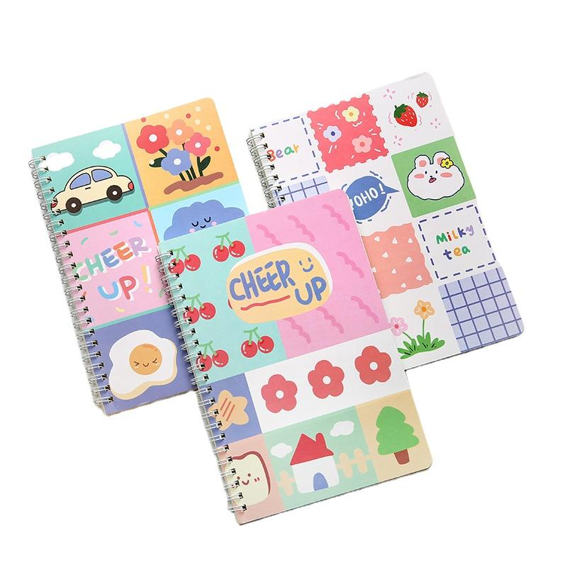 High Quality Spiral Binder Binding Exercise Book Making Line Coloring Book For Kids Cartoon