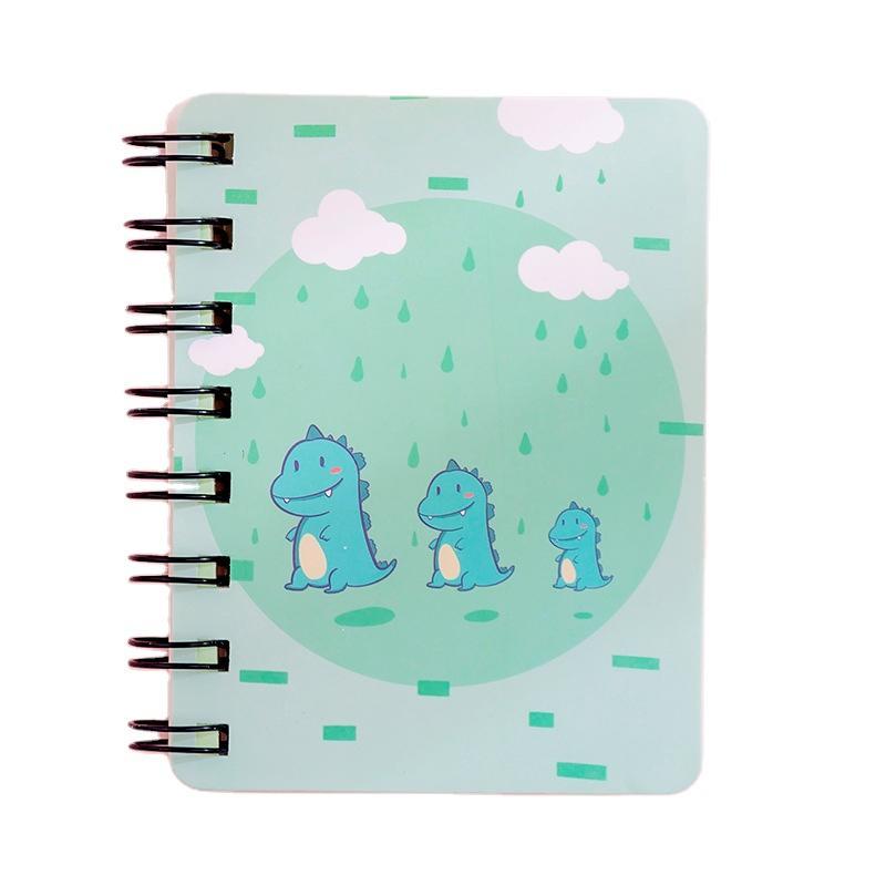 Custom Lovely School Exercise Books Printing Single Line Spiral Binding Ring Metal Sticky Notepad For Kids