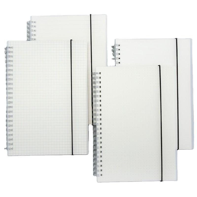 Custom Elastic Band Logo Plastic Cover Spiral Binding Notebook
