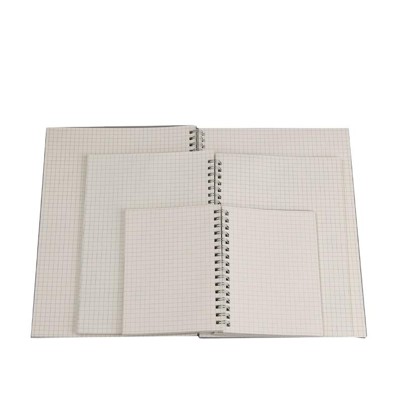 A4 Clear Plastic Cover Plain Elastic Band Spiral Notebook Customize Logo