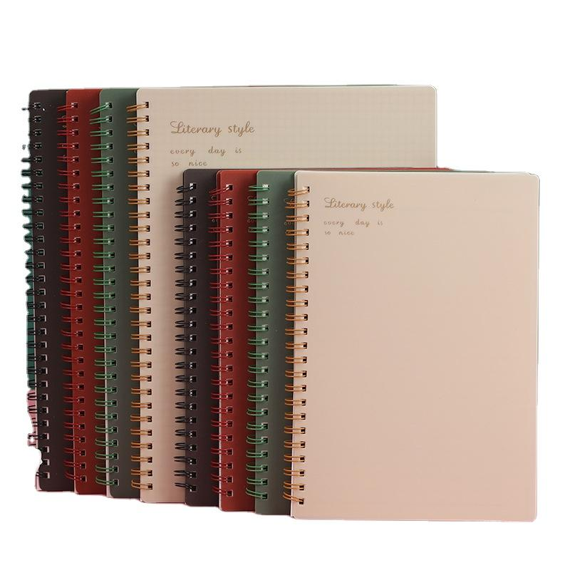 Custom Exquisite Spiral Coil Binding Green Square Exercise Book 96-120 Pages Business Card Book