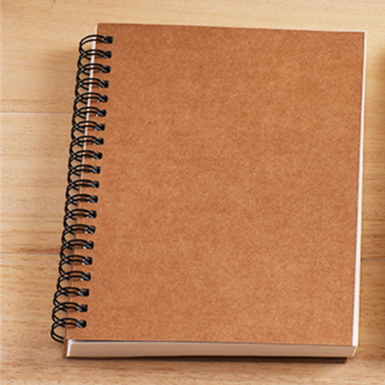 product-Cheap Wholesale Kraft Black Paper Cover Wire O Double Line A4 A5 Notebook Spiral Cahier For -1