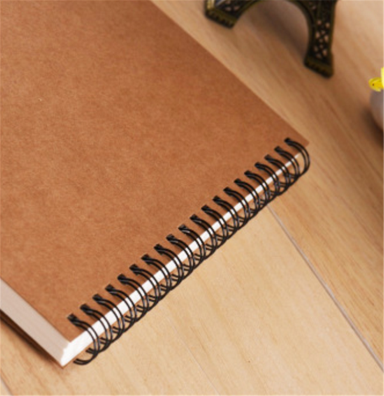 product-Dezheng-Cheap Wholesale Kraft Black Paper Cover Wire O Double Line A4 A5 Notebook Spiral Cah-1