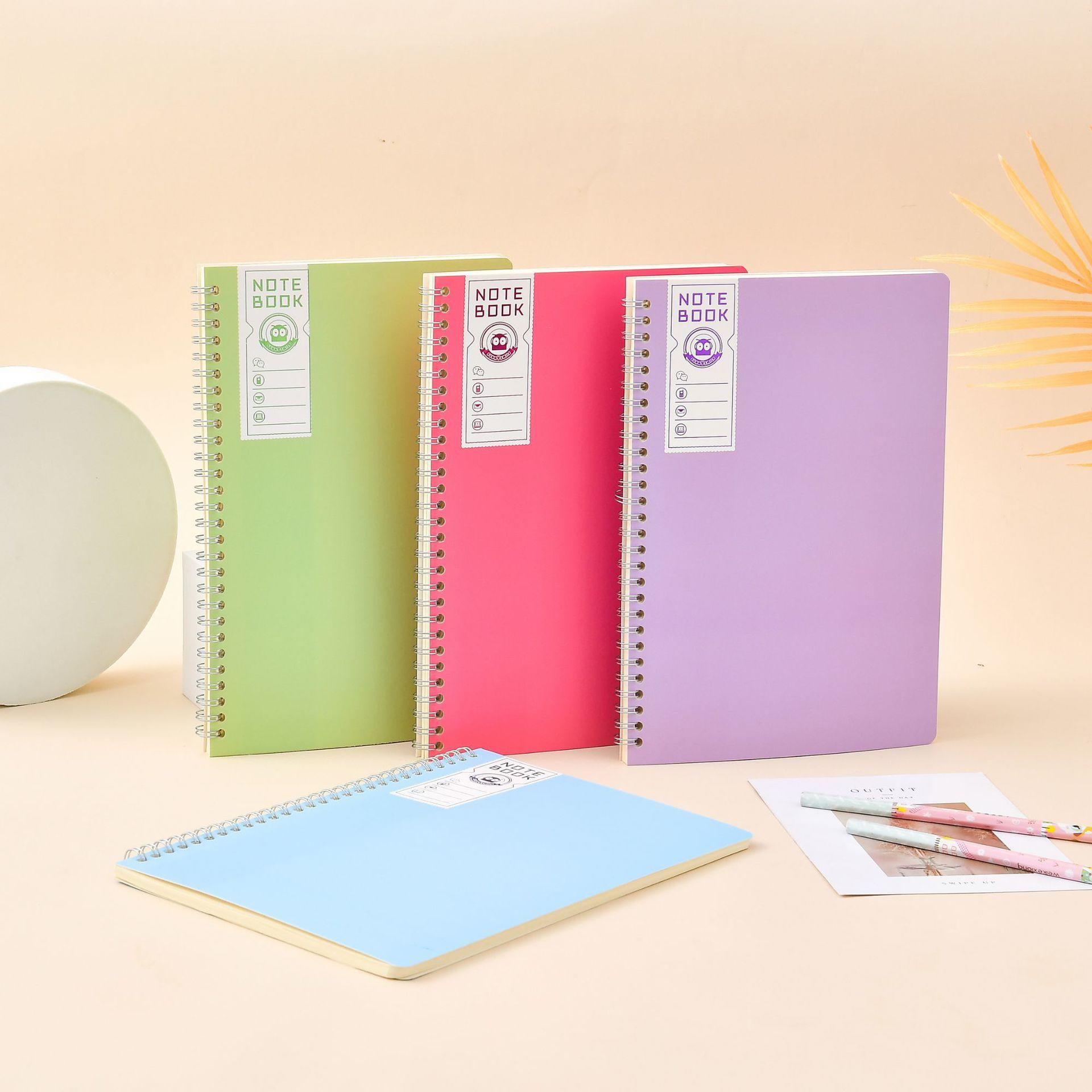 product-Good Quality Custom A4 Exercise Books 80 Pages Metal Spiral Binding Coil Business Notebook-D-1