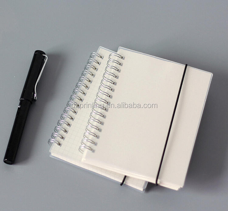 2018 China Manufacturer PP Cover PVC White Dot Grid Sheets A4 A5 A6 Diary School Spiral Notebook