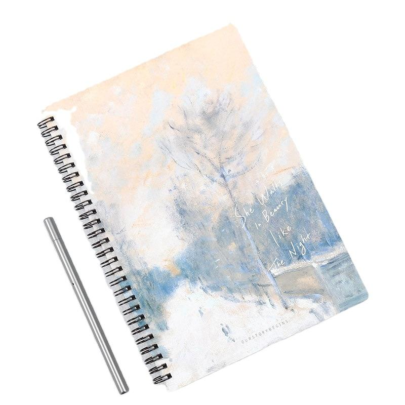 product-Cheap Price A5 School Writing White Lines Book Spiral Binding Notebook Cover-Dezheng-img-1